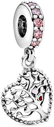 Pandora Women 925 Sterling Silver Silver Bullet Cubic Zirconia