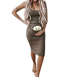 b26e379327e3 Topgrowth Vestiti Gravidanza Divertenti Abiti Premaman Senza Maniche  Infermieristica maternità Canotta Vestiti da Donna Bambino Stampato