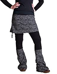 Vishes - Alternative Bekleidung - Rock- Schlag- Hosen Kombination - Lange Größe Schwarz 46 bis 48