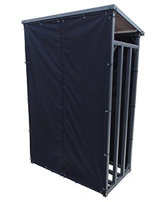 Wetterschutz Set Front und Rückwand zu Kaminholzunterstand 130x70x203cm PVC Schwarz von Grasekamp bei Gartenmöbel von Du und Dein Garten