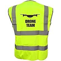 Drone Team Hi Vis Hi Viz Drone Waistcoat Vest Jacket Reflective All Sizes