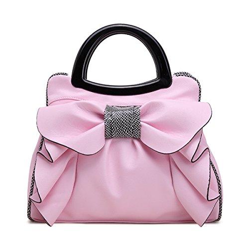 QPALZM QPALZM 2017 Frau Bowknot-Handtasche Süße Dame Bag Fashion Schultertasche Frauen Messenger Bag Pink