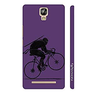 Enthopia Designer Hardshell Case Ninja Rides - Purple Back Cover for Gionee Marathon M5 Plus