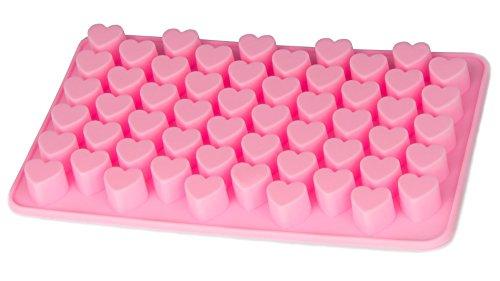 BlueFox Silikonform Herzchen Praline Silikon Herz Eiswürfel Schokolade Form Süßigkeiten Dekoration Förmchen Bonbon Schoko Verzierung Küchenhelfer Cake-Mold Eiswürfelform Silicone, Farbe: Pink (Herz Kuchen Silikon Form)