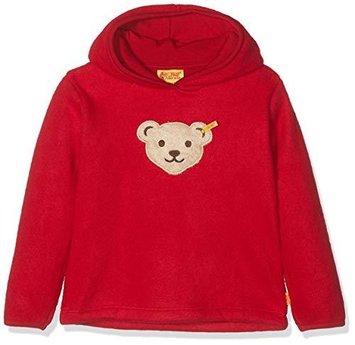 Steiff Mädchen 1/1 Arm Fleece Sweatshirt, Rot (Jester RED 2120), Herstellergröße:104 Fleece-armee Pullover