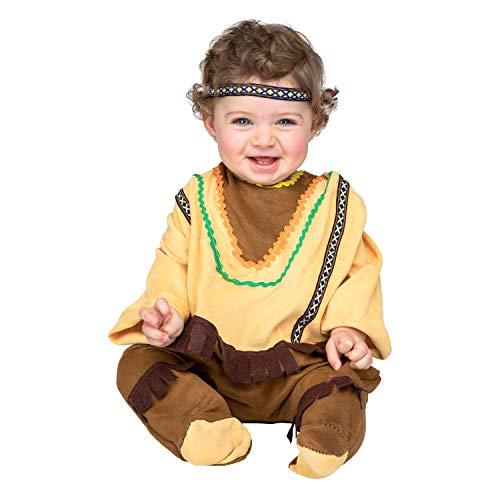 Kostüm Baby Indianer - My Other Me 203287 Verkleidung, Mujeres, braun, 0-6M