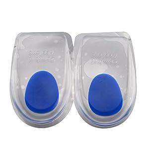 Faylapa 1 Paar Comfort Gel Heel Pads Fußmassage Ideal für Leiden von Fersensporn, Plantar Fasciitis und Achillessehne, Unisex
