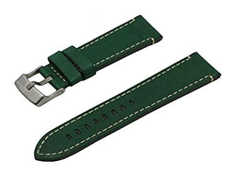 SWISS REIMAGINED Green Hypoallergenic Tanned Calfskin Leather Watch Band with
