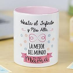La Mente es Maravillosa | Taza cerámica de café o desayuno | Regalo original para MADRE | Hasta el infinito y más allá, la mejor del mundo es mi mamá | RESISTENTE 100% al microondas y lavavajillas | Taza con mensaje divertido para mamá | BONITA y EXCLUSIVA | Esmaltado brillante de GRAN CALIDAD | Frases y dibujos creativos grabados en la superficie | Perfecta para cualquier bebida, infusión o té | Mamá infinito