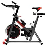 Hop-Sport Indoor Cycle Bravo Indoorcycling mit integrierten Pulssensoren Speed...