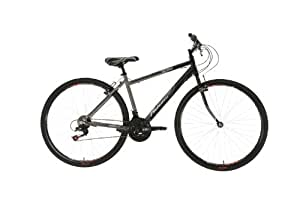 Falcon Men's Monza Hybrid Bike - (Black/Grey, 12+ Years, 18 Inch, 27.55 Inch)