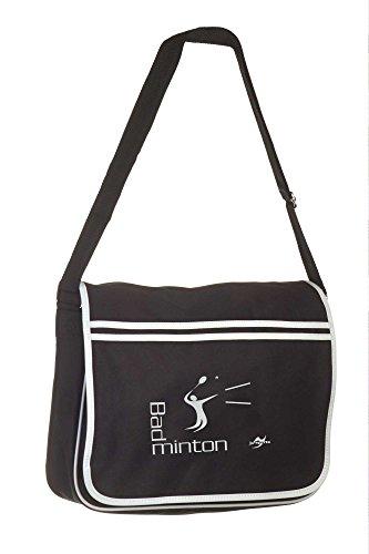 Retro Messenger Bag BG71 schwarz Badminton