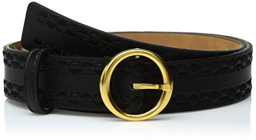 ak-anne-klein-womens-anne-klein-32mm-smooth-panel-belt-with-embroidery-black-gold-s