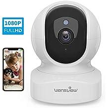 Caméra Surveillance WiFi, Wansview 1080P Caméra IP WiFi Intérieur avec Détection de Mouvement, Audio Bidirectionnel pour Bébé/Animal de Compagnie - Q5 Blanche