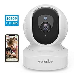 Telecamera di Sorveglianza WiFi, Wansview 1080P Videocamera IP WiFi Interno con Audio Bidirezionale e Compatibile con… 41U1sl XCsL. SS300