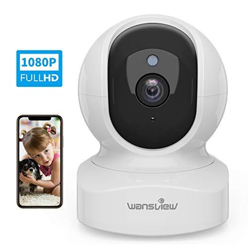 WLAN IP Kamera, Wansview Überwachungskamera WiFi 1080P, Haustier Kamera, Home und Baby Monitor mit Bewegungserkennung, Zwei-Wege-Audio, unterstützt Fernalarm und Mobile App Kontrolle Q5 Weiß