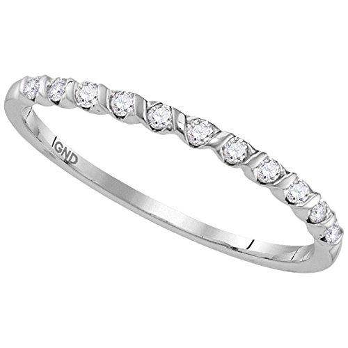 Sonia Jewels - 10 K Weißgold Rundschliff Leicht Getöntes Weiß/Crystal (J) Weißer Diamant