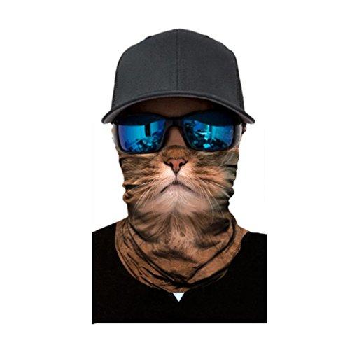 Unisex Herren Frauen Reiten Maske, mamum Radfahren Motorrad Kopf Schal Halswärmer Gesichtsmaske Ski Sturmhaube Haarband Einheitsgröße e