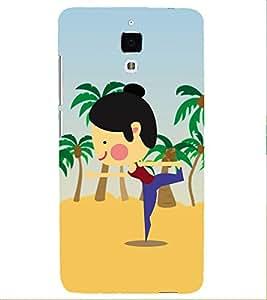 PrintVisa Designer Back Case Cover for Xiaomi Redmi Mi 4 :: Redmi Mi 4 (Animated Girl Doing Yoga)