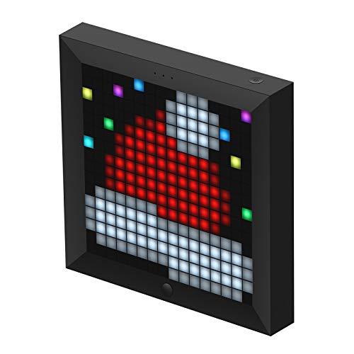 Divoom Pixoo LED-Licht Digitaler Rahmen mit 16*16 App-gesteuertem Pixeln (Schwarz)