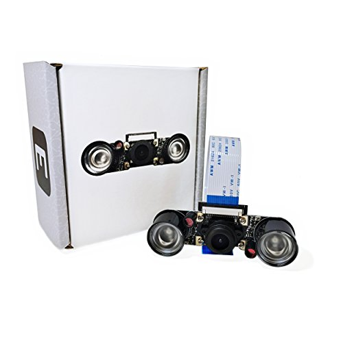Electreeks Raspberry Pi Kamera Modul mit 130° Weitwinkel-Objektiv Full HD und Infrarot LEDs