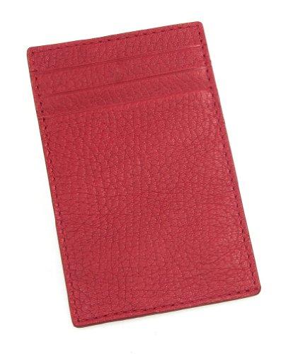Lucrin - Kreditkarten- und Visitenkartenetui - Leder genarbt Rot
