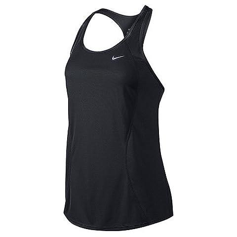 Nike Racer Tank T-Shirt pour femme S Negro / Plateado (Black/Black/Black/Reflective Silv)