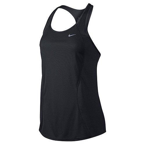 Nike Racer Tank - Camiseta para mujer, color negro / plateado, talla M