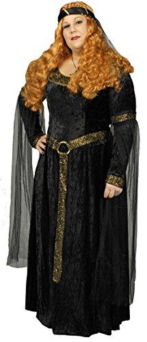 Schwarze Prinzessin Burgfräulein Kostüm Gr. 40 42 - 5