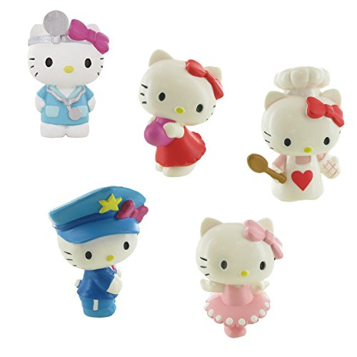 LOT 5 FIGURES Comansi Hello Kitty - Heart - Doctor - Dancer - Police - Chef
