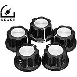 ZEAST 5Pcs / Set MF-A01 Bakelite Potentiometer Knob Cap Hat Diameter 20mm Bore Diameter 6.4mm for RV24YN WH118