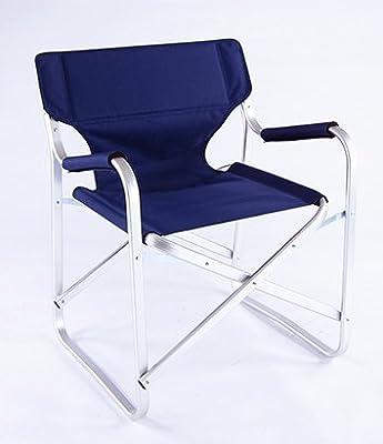 Onway Aluminium klappbarer Regiestuhl Campingstuhl Klappstuhl Blau / Portable Folding Director Chair Blue