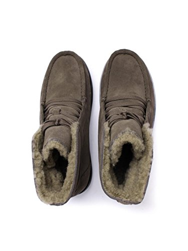 Fitflop Schnürstiefelette Loaff TM Lace Up Ankle Boot Shearling Bungee Cord Suede Braun