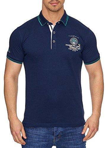 Tazzio Herren Polo-Shirt Polohemd Poloshirt T-1041 Navyblau