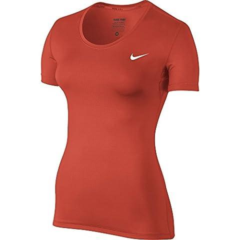 Nike W Np Cl Ss - kurzärmeliges Top Damen, rot - rot, M