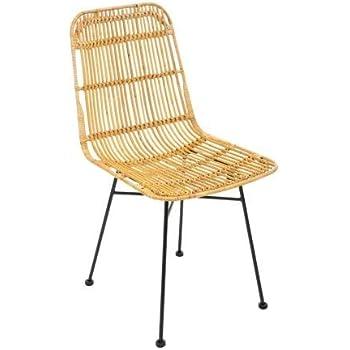 Alterego rotin Chaise en 'MOSKITO' accoudoirsAmazon avec 5L34ARj