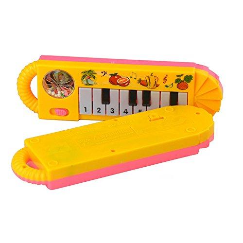 usikalisches pädagogisches Tierfarm-Klavier-Entwicklungsmusik-Spielzeug Tastatur (Gelb) ()