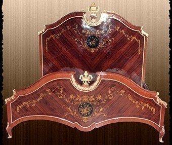 LouisXV Barock Bett rokoko Louis XV MoBd04798 antik Stil Massivholz. Replizierte Antiquitäten Buche...