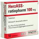 HERZASS ratiopharm 100 mg Tabletten 50 St