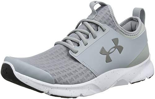 Under armour ua drift rn, scarpe running uomo, grigio (overcast gray/glacier gray/metallic pewter), 41 eu