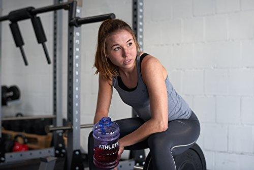 Water Jug - Sport Trinkflasche - Waterjug - Wasserflasche - Gym Bottle - Trainingsflasche - Water Bottle - Fitness Bottle - Wasser Kanister 2.2 Liter - Trinkflasche - ATHLETIC AESTHETICS - Schwarz - 4