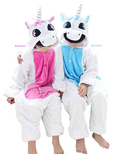es Pyjamas Weihnachten Halloween Party Cosplay Kostüm Lazy Warm Sleepwear Gr. XXS ( 86 cm- 102 cm), Rosa, Einhorn (Halloween-baby Onesies)