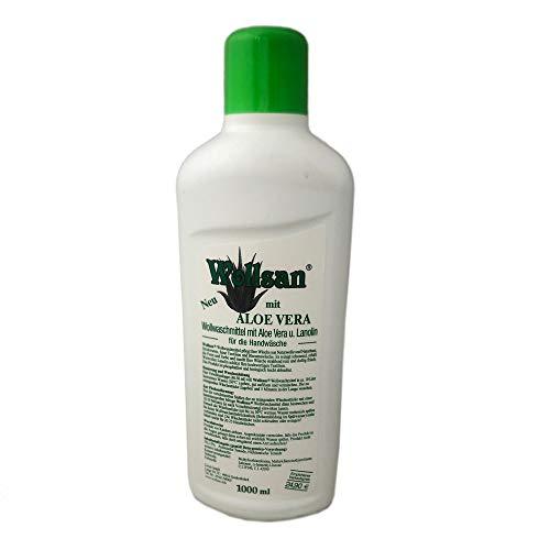 1L WOLLSAN Aloe Vera Wollwaschmittel Handwäsche Lammfell Waschmittel Reinigungsmittel Fellwaschmittel mit Lanolin -