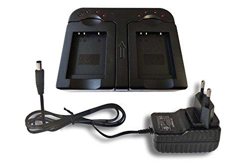 vhbw-schnellladegerat-ladegerat-dual-2-fach-inkl-kfz-fur-kamera-kodak-easyshare-m200-m215-m22-m23-m5