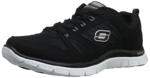 Skechers Flex Appeal Spring Fever, Damen Sneakers, Schwarz (BKW), 37 EU (Running Sneakers Skechers)