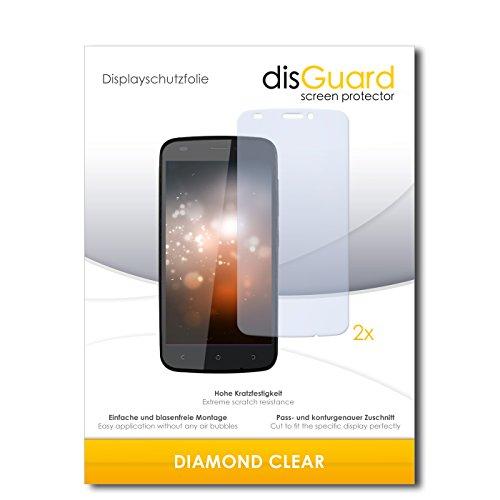 2 x disGuard® Bildschirmschutzfolie Gionee Ctrl V5 Schutzfolie Folie