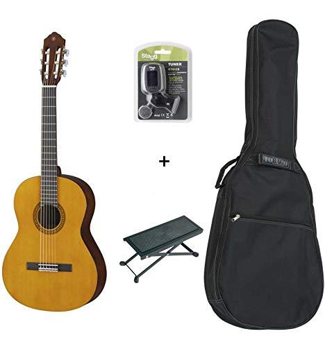 Pack Yamaha CS403/4-Klassische Gitarre 3/4(+ Stimmgerät, Tasche und Fußstütze)
