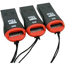 SODIAL(R) 3x Lector Grabador Adaptador de Tarjetas USB 2.0 Micro SD SDHC MMC Micro Sd 2528c