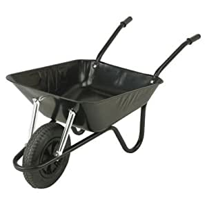 Walsall Heavy Duty Wheelbarrow Black 90 ltr