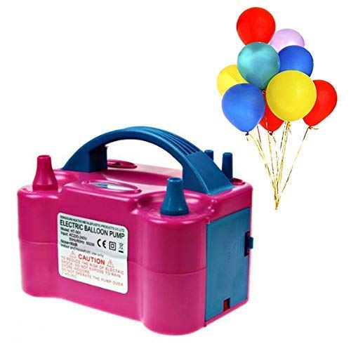 Gearmax® Luftballonpumpe Aufblasgerät 600W Elektrische Ballonpumpe Luftballon Pumpe